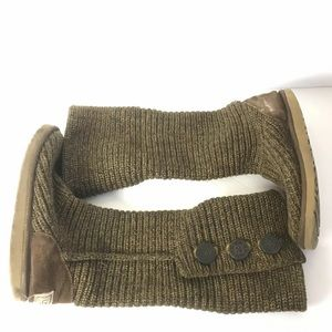 Ugg Classic Cardy knit boots brown 8